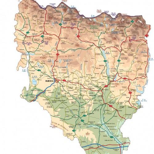 Mapa-de-la-provincia-de-Huesca